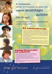 verder met autisme - Dr. Leo Kannerhuis