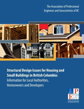 Structural Design Issues for Housing & Small Buildings in BC
