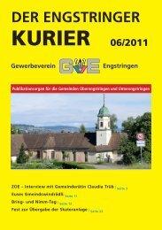 Öffnungszeiten Juni 2011 - Engstringer Kuriers