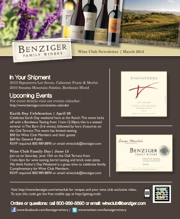 March 2013 - Benziger Family Winery