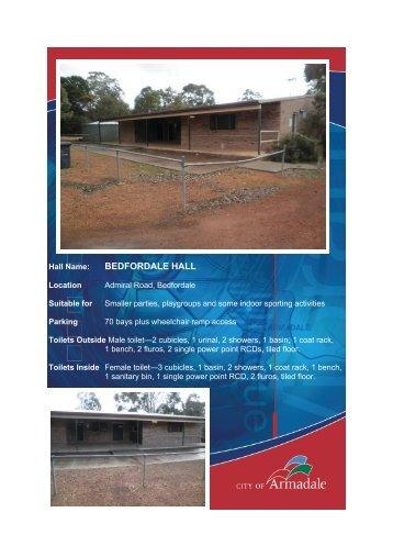 Bedfordale Hall (PDF 1.22 MB) - City of Armadale