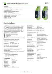 E1ZT Treppenlichtautomat elektronisch Technische Daten