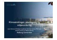 Klimaændringer, planlægning og miljøvurdering af Prof. Lone ...