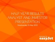 2013 half year results analyst presentation - easyJet plc