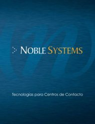 Transfiera nuestro Folleto Corporativo - Noble Systems Corporation