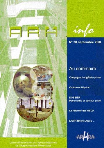 ARH Info n° 38 de septembre 2006 - Parhtage santé