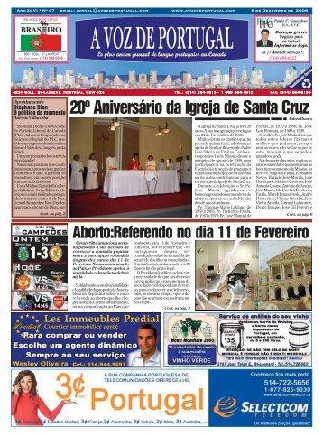 20º Aniversário da Igreja de Santa Cruz - A Voz de Portugal