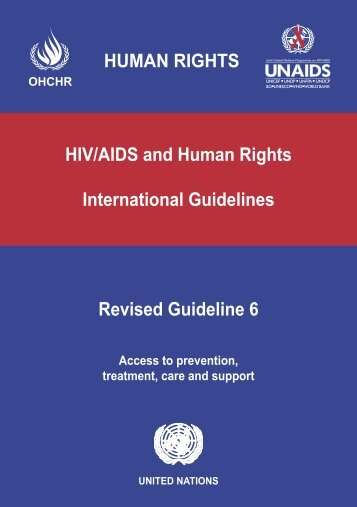 HIV/AIDS and human rights : international guidelines - libdoc.who.int ...