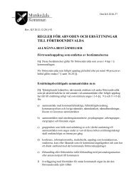 regler för arvoden och ersättningar till förtroendevalda