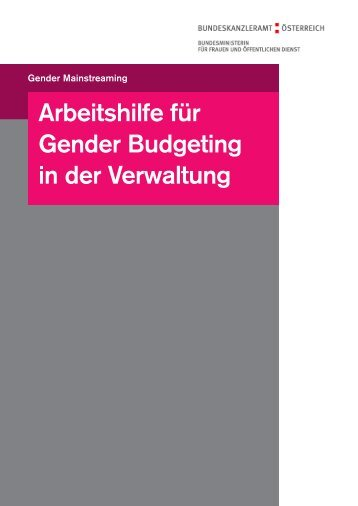 Hier Titel eingeben - IMAG Gender Mainstreaming