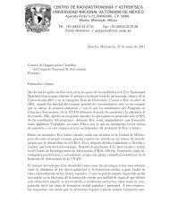 CENTRO DE RADIOASTRONOM´IA Y ASTROF ... - CRyA, UNAM