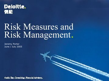 Asset and Liability Management. - Actuarial Society of Hong Kong