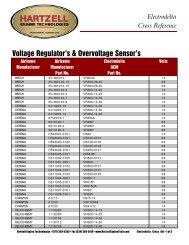 Voltage Regulator's & Overvoltage Sensor's - Hartzell Engine ...