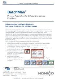 HONICO BatchMan für Outsourcing Service Provider