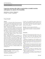 Long-term outcome after joint reconstruction or ... - ResearchGate