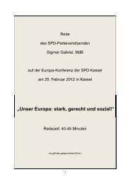 """""""Unser Europa: stark, gerecht und sozial!"""" - Europa im Gespräch"""