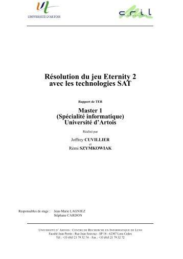 Résolution du jeu Eternity 2 avec les technologies SAT - Centre de ...