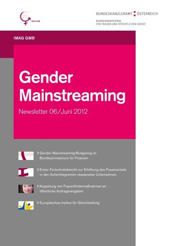 IMAG Gender Mainstreaming