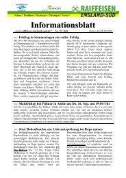 Informationsblatt - Raiffeisen Emsland-Süd