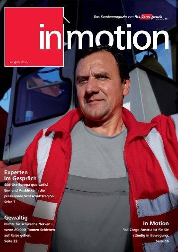 in motion Ausgabe 01/12 (pdf, 10,8 - Rail Cargo Austria