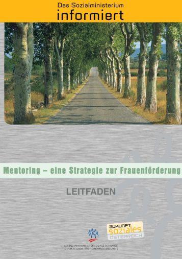 Druckvorlage Mentoring-Broschüre - IMAG Gender Mainstreaming
