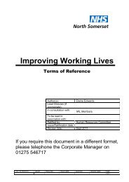 Terms of Reference June 2009.pdf - North Somerset PCT