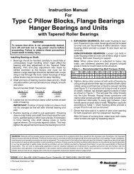 Type C Pillow Blocks, Flange Bearings Hanger ... - PTplace.com