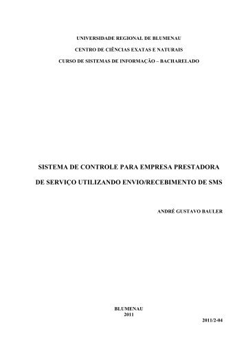 Sistema de Controle para Empresa Prestadora de Serviço utilizando ...