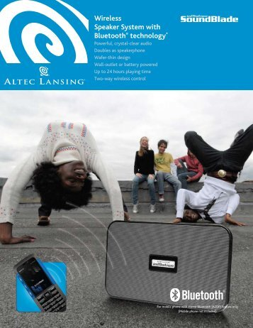 Wireless Speaker System with Bluetooth® technology* - Altec Lansing