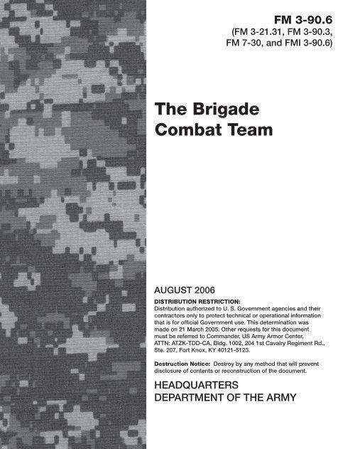 FM 3-90 6 - Soldier Support Institute - U S  Army
