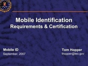 Mobile Identification