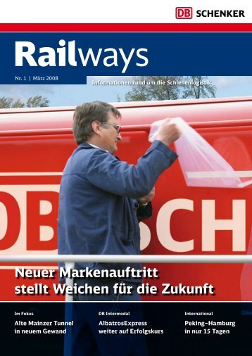 Neuer Markenauftritt stellt Weichen für die Zukunft - DB Schenker Rail