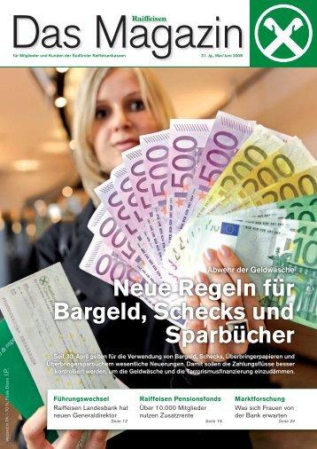 Neue Regeln für Bargeld, Schecks und Sparbücher  - Raiffeisen