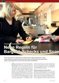 Neue Regeln für Bargeld, Schecks und Sparbücher  - Raiffeisen - Seite 6