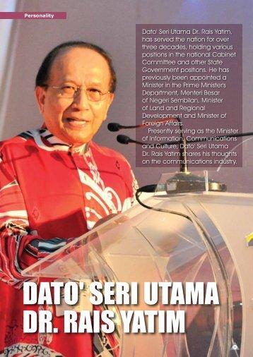 DATO' SERI UTAMA DR. RAIS YATIM - my Convergence Magazine