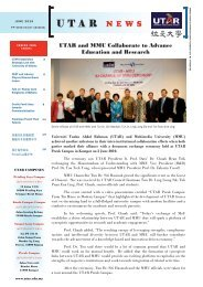 Utar Newsletter June 2010.indd - Universiti Tunku Abdul Rahman