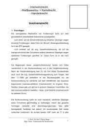 Insolvenzrecht - Prof. Dr. Hopp in Oldenburg