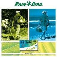 FÃœR IHRE TREUE NOCH MEHR AUSWAHL - Rain Bird