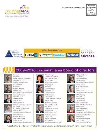 2009–2010 cincinnati ama board of directors