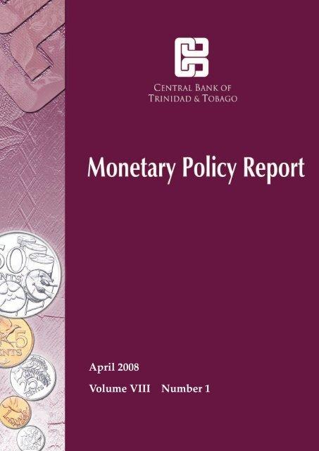 April 2008 Report - Central Bank of Trinidad and Tobago