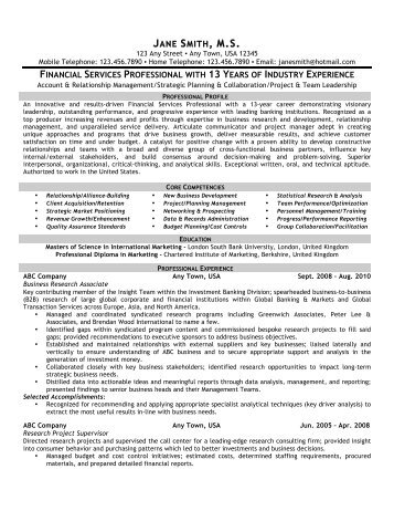 Account Relationship Management - Front Runner Resume Writing