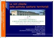 12.00 Le reti cliniche nelle politiche sanitarie territoriali V ... - Simel