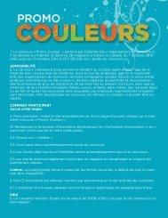 1. Le concours « Promo Couleur » est tenu par DeSerres (les ...