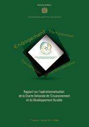 Rapport opérationnalisation charte - Département de l'environnement