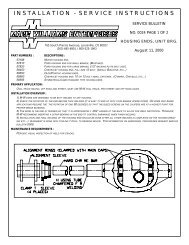 Mark Williams Hi Torque Axles Mechanics patch
