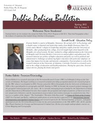 Public Policy Bulletin – Srping 2012 (Volume 5, Issue 1)