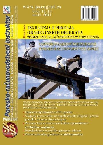 Paragraf Poresko-računovodstveni instruktor • br. 14-15 • mart 2011.