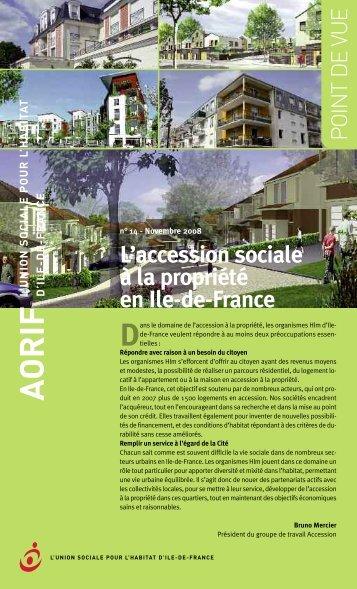 Point de vue sur l'accession sociale - AORIF