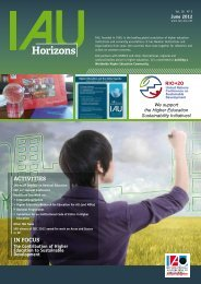 Horizons - Association for the Advancement of Sustainability in ...
