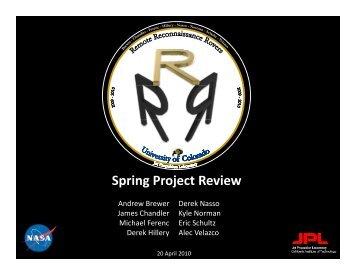 SPR - Aerospace Engineering Sciences Senior Design Projects